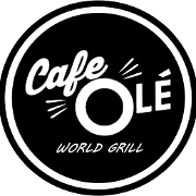 This is the restaurant logo for Cafe Ole World Grill