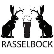 This is the restaurant logo for Rasselbock Kitchen & Beer Garden