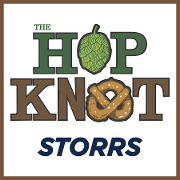 This is the restaurant logo for The Hop Knot Storrs