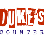 This is the restaurant logo for Duke's Counter