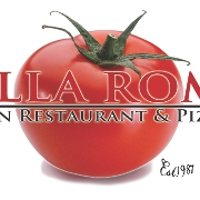 This is the restaurant logo for Bella Roma