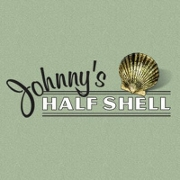 This is the restaurant logo for Johnny's Half Shell