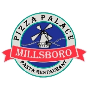 This is the restaurant logo for Millsboro Pizza Palace