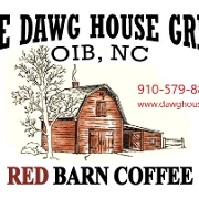 This is the restaurant logo for The Dawg House Grill Too