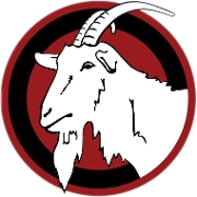 This is the restaurant logo for The Surly Goat - Encino