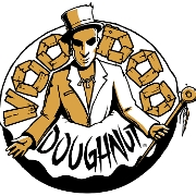 This is the restaurant logo for Voodoo Doughnut