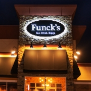 This is the restaurant logo for Funck's Restaurant
