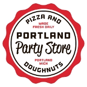 This is the restaurant logo for Portland Party Store