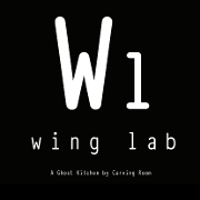 This is the restaurant logo for Carving Room / Wing Lab ghost kitchen