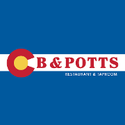 This is the restaurant logo for C.B. & Potts Restaurant & Brewery