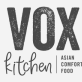 This is the restaurant logo for The Vox Kitchen