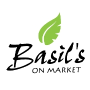 This is the restaurant logo for Basil's on Market