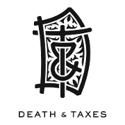 This is the restaurant logo for Death & Taxes