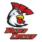 This is the restaurant logo for Wicked Chicken