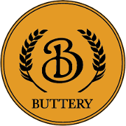 This is the restaurant logo for The Buttery