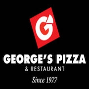 This is the restaurant logo for George's Pizza and Restaurant/The Olive Bar
