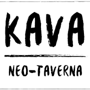 This is the restaurant logo for KAVA neo-taverna