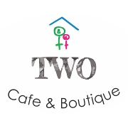 This is the restaurant logo for Two Cafe and Boutique