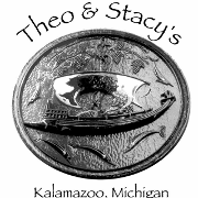 This is the restaurant logo for Theo & Stacy's Downtown