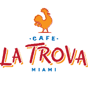 This is the restaurant logo for Cafe La Trova