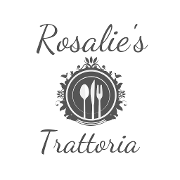 This is the restaurant logo for Rosalies Trattoria