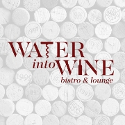 This is the restaurant logo for Water into Wine