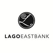 This is the restaurant logo for Lago East Bank