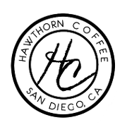 This is the restaurant logo for Hawthorn Coffee