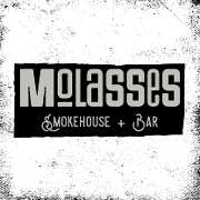 This is the restaurant logo for Molasses Smokehouse & Bar