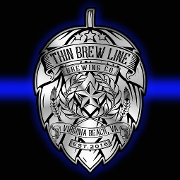 This is the restaurant logo for Thin Brew Line Brewing Company
