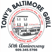 This is the restaurant logo for Tony's Baltimore Grill
