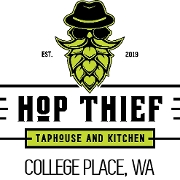 This is the restaurant logo for Hop Thief TapHouse & Kitchen