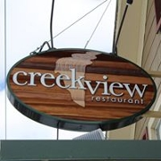 This is the restaurant logo for Creekview Restaurant