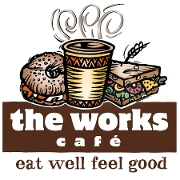 This is the restaurant logo for The Works Cafe