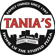 This is the restaurant logo for Tania's Pizza