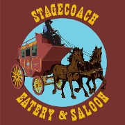 This is the restaurant logo for Stagecoach Eatery and Saloon