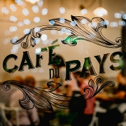 This is the restaurant logo for Café du Pays