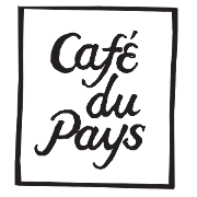 This is the restaurant logo for Vincent's Grocery @ Café du Pays