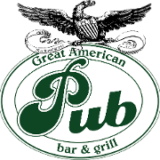 This is the restaurant logo for Great American Pub