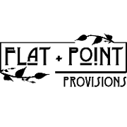 This is the restaurant logo for Flat & Point