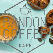 This is the restaurant logo for Bandon Coffee Cafe