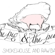 This is the restaurant logo for The Pig & The Pearl