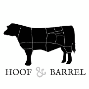 This is the restaurant logo for Hoof & Barrel