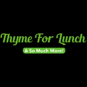 This is the restaurant logo for Thyme For Lunch