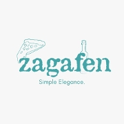 This is the restaurant logo for Zagafen