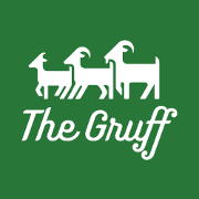 This is the restaurant logo for The Gruff