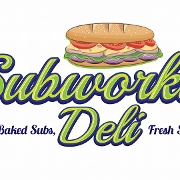 This is the restaurant logo for Subworks Deli