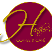 This is the restaurant logo for Heather's Coffee & Cafe