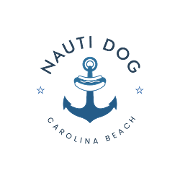 This is the restaurant logo for Nauti Dog