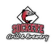 This is the restaurant logo for Sockeye Grill & Brewery
